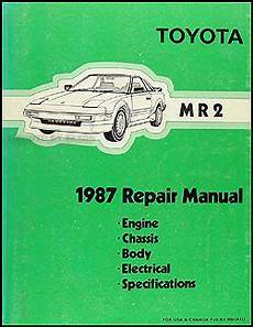 chilton car manuals free download 1987 toyota mr2 engine control 1987 toyota mr2 wiring diagram manual original