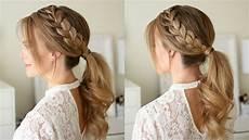 lace braid ponytail sue youtube