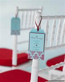 25 diy wedding programs