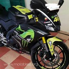 Yamaha R15 V3 Modifikasi by All New Yamaha R15 V3 Black Ala Movistar Motogp 2017