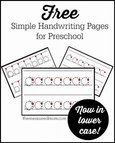 easy handwriting worksheets 21373 simple handwriting pages for preschool now in lowercase the measured