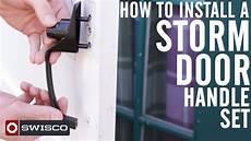 how to install a storm door handle 1080p youtube