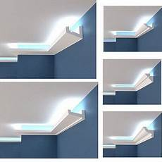 licht ideen wohnung polystyrol stuckleiste lichtprofile led indirekte beleuchtung hartschaum 2m 12m coole ideen