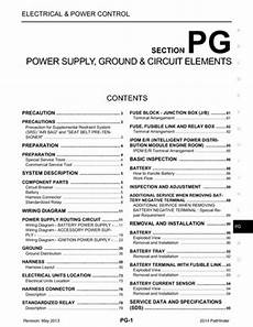 2014 nissan pathfinder power supply ground circuit elements section pg pdf manual 95