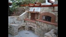 forni da giardino in muratura prezzi forno a legna in pietra barbecue e fontana costruzione
