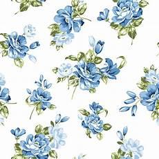 Blue Flowers Seamless Pattern Vector Free