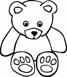 Teddy Clipart Black And White teddy clip images clipart best