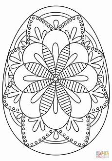 Malvorlagen Ostern Eier Intricate Easter Egg Coloring Page Free Printable