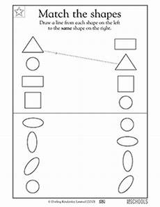 kindergarten preschool math reading worksheets match the geometric shapes greatschools