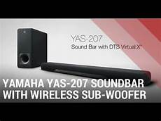 yamaha yas 207 sound bar with wireless subwoofer