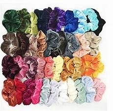 Amazon 50 Pcs Premium Velvet Hair Scrunchies 8 40 Pcs Hair Velvet Scrunchies For 7 99 Shipped Reg