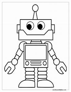 Malvorlagen Roboter Pdf Robot Coloring Pages Print Color Craft