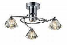 gara brushed chrome effect 3 l ceiling light departments diy at b q