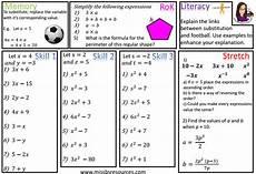 algebra substitution worksheets grade 7 8693 algebra maths differentiated worksheets