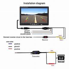 camecho rc 12v 24v car backup camera rear view wireless ir vision backup camera waterproof