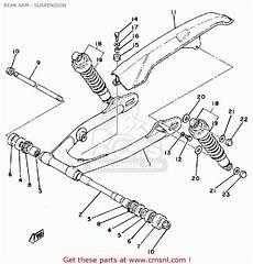 yamaha sr500 1980 oceania rear arm suspension schematic partsfiche