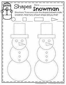 december preschool worksheets trees activities and