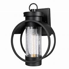 globe electric balvin 1 light black outdoor wall sconce 44306 the home depot