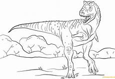 Ausmalbilder Dinosaurier Jurassic World Jurassic Park Carnotaurus Coloring Page Free Coloring