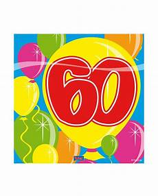 60 geburtstag servietten deko karneval universe