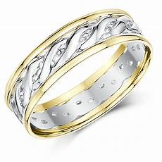 6mm 9ct yellow white gold two colour celtic wedding ring band celtic rings at elma uk jewellery