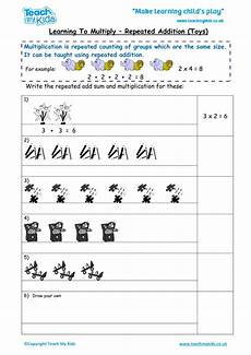addition and multiplication sentence worksheets for grade 2 9504 learning to multiply repeated addition mixed tables tmk education