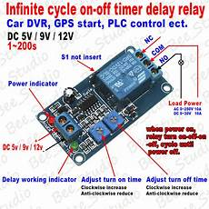 dc5v 9v 12v infinite cycle loop delay turn off delay timing time relay switch ebay