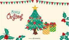 merry christmas tree vector illustration vector download