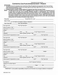 fillable online courts mo fi 30 confidential case filing