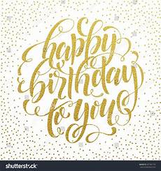 golden sparkling birthday fireworks card birthday happy birthday you vector gold glitter stock vector