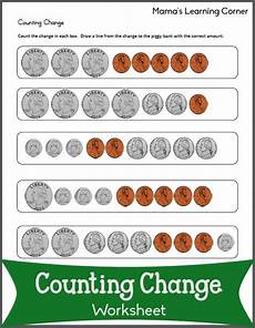 learning to count money worksheets printable 2724 counting change worksheets mamas learning corner