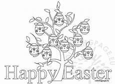 happy easter free printable coloring page coloring page