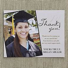 refined graduate custom thank you cards graduation
