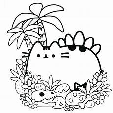 cute pusheen coloring page free printable coloring pages for kids