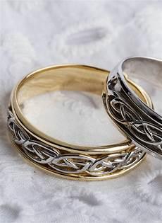 gents 14k gold celtic knot wedding ring blarney