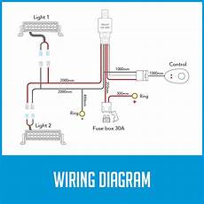 wiring loom power harness for 2x led work driving light bar 12v 40a switch relay 686494501041 ebay