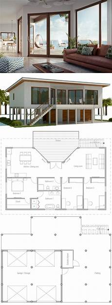 beach house plans on piers raised coastal house plan beach house plan house on