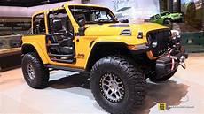 2019 jeep wrangler la auto show 2019 jeep wrangler nacho by mopar exterior interior