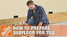 Preparing Bathroom Floor For Tile preparing subfloor for tile