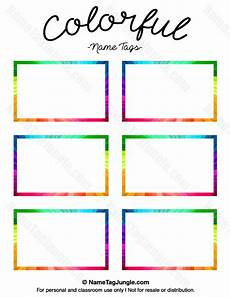 colorful name card template pin by muse printables on name tags at nametagjungle