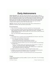 early astronomers teachervision