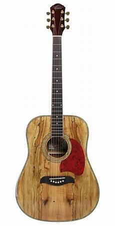 Oscar Schmidt Og2smg Spalted Maple Acoustic Guitar Gold