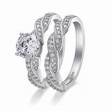 tinnivi cut gemstone 925 sterling silver wedding ring sets tinnivi jewelry