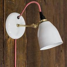 lovell porcelain plug in sconce modern sconce barn light electric