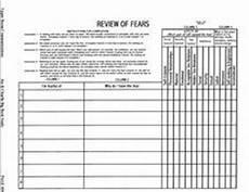 printable aa step 4 worksheets aa 4th step inventory