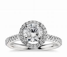 floating halo diamond engagement ring in platinum 1 3 ct tw blue nile