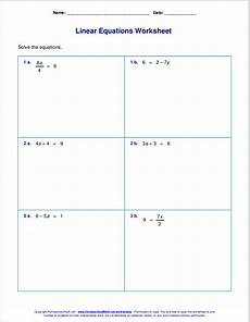 free worksheets for linear equations grades 6 9 pre algebra algebra 1