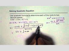 quadratic formula calculator step by step