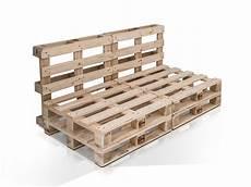 Paletti 2 Sitzer Sofa Aus Paletten Natur Ohne Armlehnen