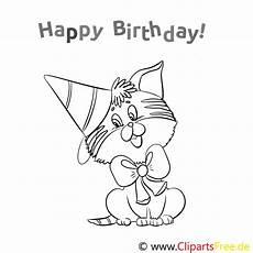 Ausmalbilder Geburtstag Katze Katze Geburtstag Ausmalbild Gratis